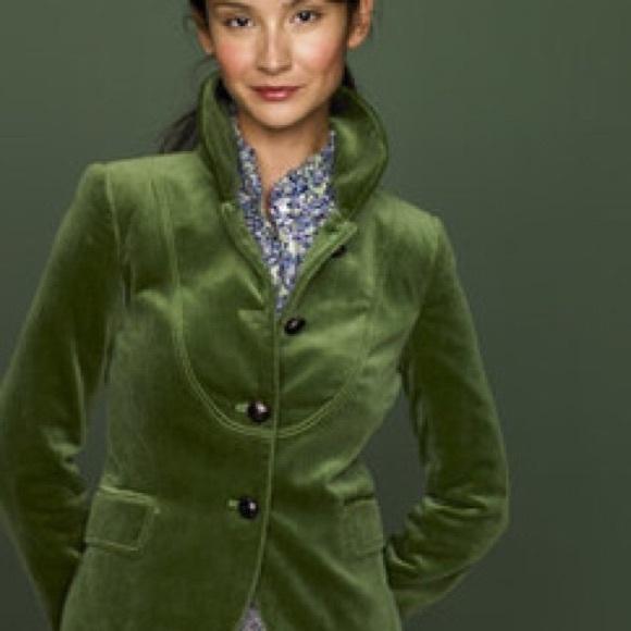 e5337edd44ca J. Crew Jackets & Coats | J Crew Green Velvet Bella Blazer Jacket ...
