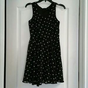 Fun & Flirt Dresses & Skirts - Black dress with white pokadots size Small
