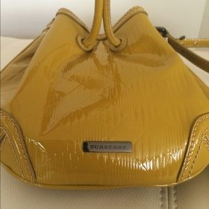 ff5c4b611d29 Burberry Bags - Burberry Harben Patent Leather Mini Bucket Bag