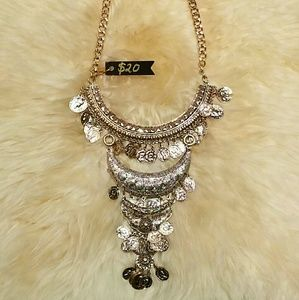 Jewelry - Large gold statement necklace.  Brand new