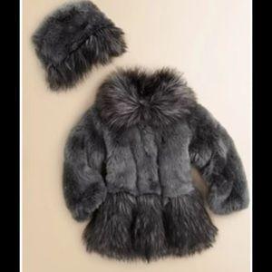 Widgeon 4t faux fur coat and hat New