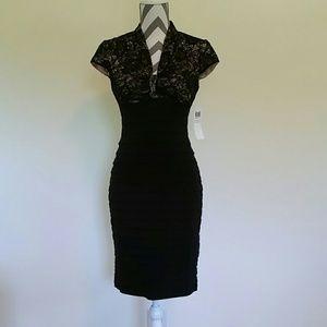 LONDON TIMES Dress Size 2 Black