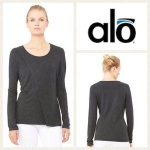 ALO Yoga Tops - NEW!  ALO Yoga 'Kira' long-sleeve top in charcoal