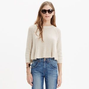 Madewell Swing Crop Sweater Size XS