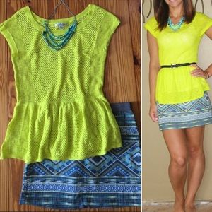 American eagle neon yellow top