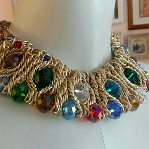 Jewelry - Beautiful multiple color stone choker necklace