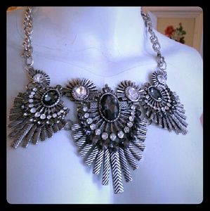 Jewelry - Zara silver and black exotic statement necklace
