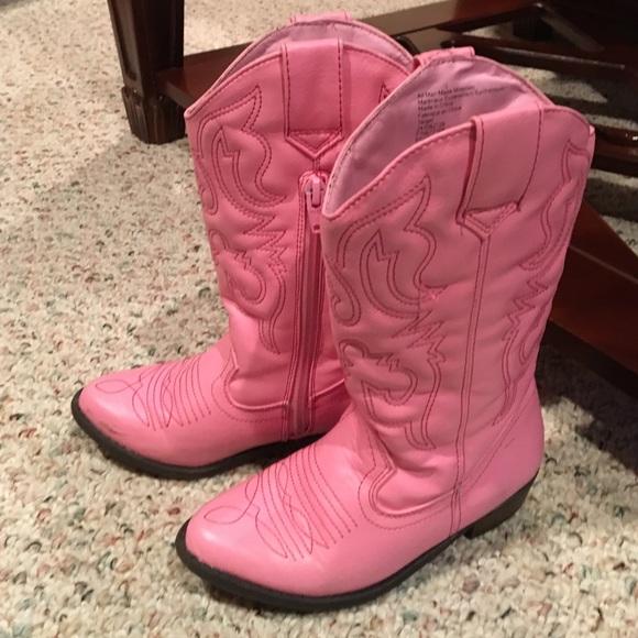 Cherokee Shoes - 💖Pink Cowboy Boots - Girls size 12. GUC 6e0359fda9b3