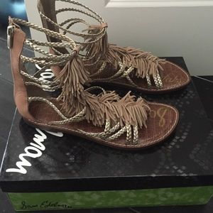 Nwt Sam Edelman Nude leather sandal
