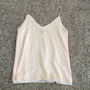 Tops - Shear peach soft tank. Never worn