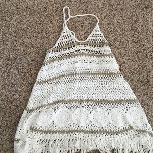Bathing suit cover up or hippie tank top