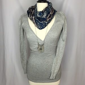 ALLOY Sweaters - Deep V-neck Gray Sweater
