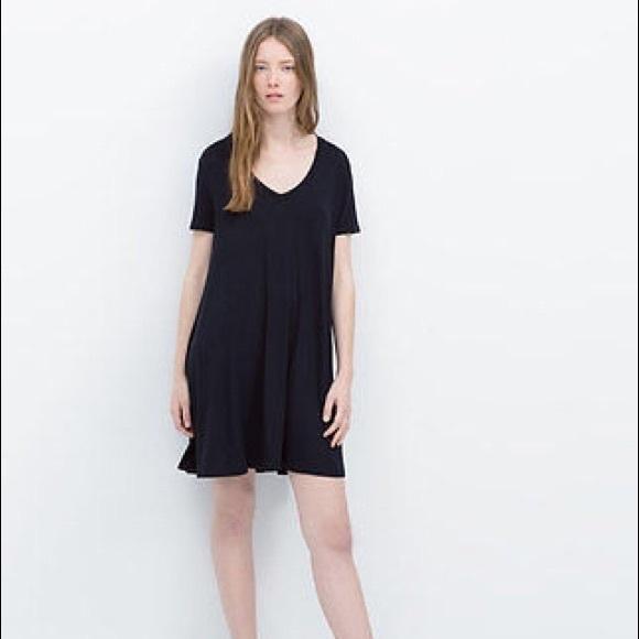 20 off zara dresses skirts 39 zara 39 black t shirt dress for Zara black t shirt dress