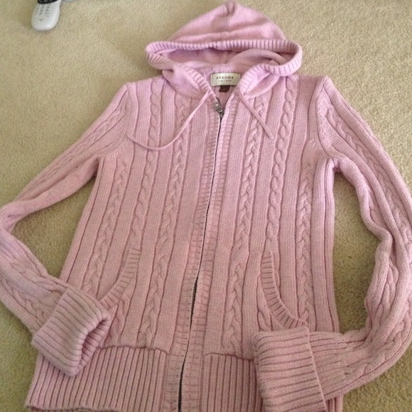 60% off Sonoma Sweaters - Woman's pink zip up cable knit sweater ...
