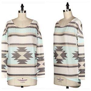 Fashionomics Sweaters - HP Aztec Print Knit Sweater