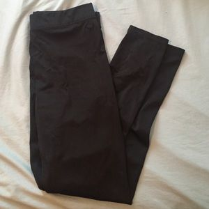 Pink Victoria's Secret Jet Black Shine Leggings