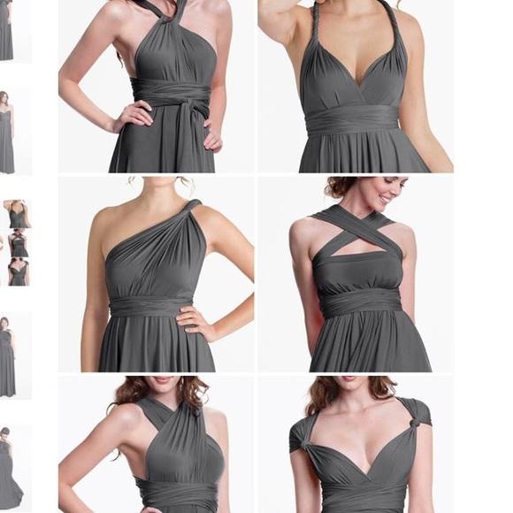 fe9b7114bc5 Henkaa Dresses   Skirts - Henkaa Sakura Convertible Maxi Dress charcoal gray