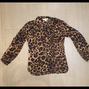 Beautiful new cheetah print Michael Kors blouse.
