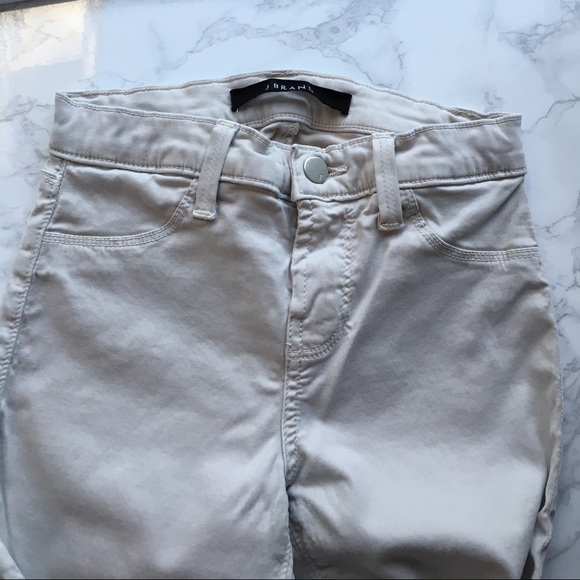 J BRAND FOR THEORY WOMEN/'S MID-RISE SKINNY JEAN LUXE SATEEN RAIL CHALK SIZE 25