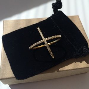 """Muse Refined Jewelry - """"X"""" Crossover Ring"""