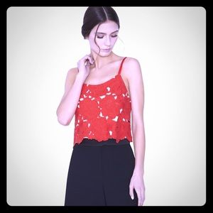 Alice + Olivia Tops - 🆕 Alice+Olivia Alanis Red Rose Crop Top size 12