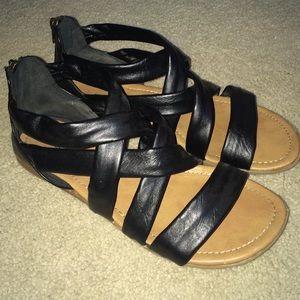 Black Women's Strappy Sandals