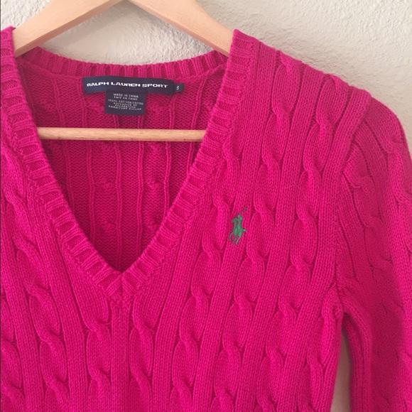 85% off Ralph Lauren Sweaters - 🎀Sale🎀{Ralph Lauren} Hot pink ...