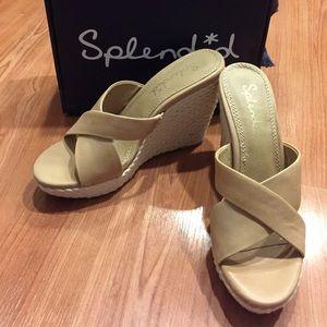Splendid Wedge Beige Sandals size 7.5