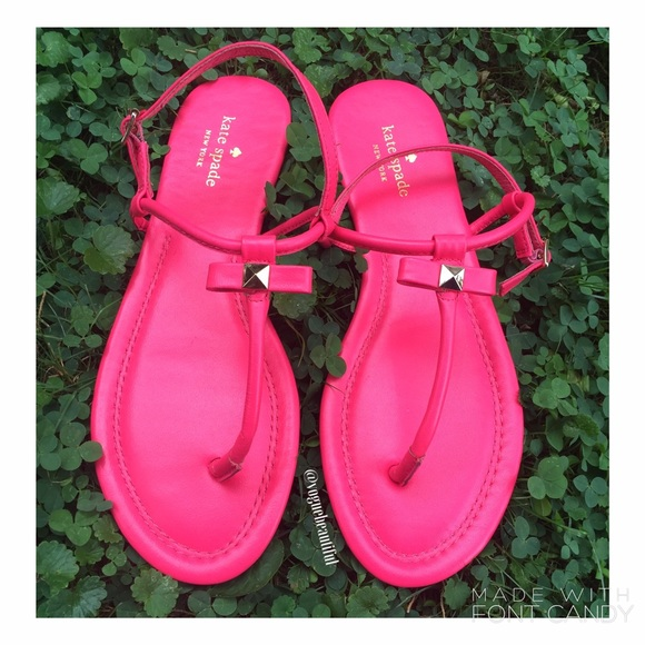f33aa8a4db518e kate spade Shoes - Kate Spade Hot Pink Bow Sandals