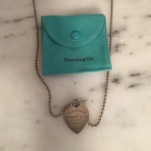 Authentic Tiffany & Co. Heart Tag Pendant Necklace