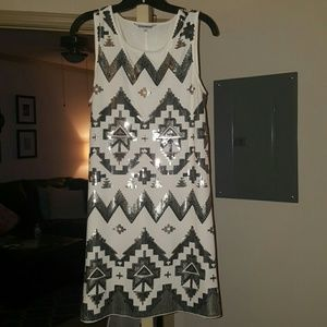 Express Dresses & Skirts - Current! Express Aztec sequin mini dress