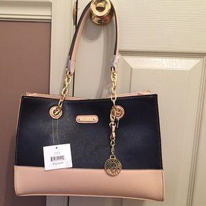 handbag with h on it - 31% off Anne Klein Handbags - Black and Tan Anne Klein Purse ...