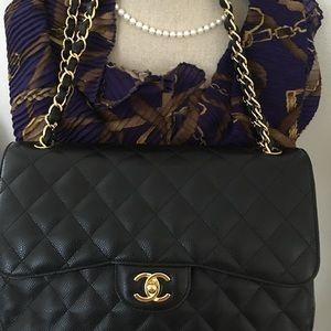 c908fb616af1 Chanel Bags - Chanel jumbo black caviar with gold hard wear
