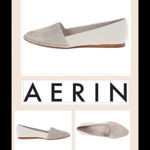 "Aerin Shoes - NEW Aerin ""Steel lizard print Matte"" flat"