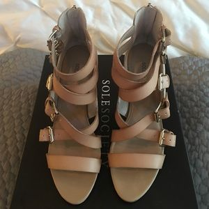 Worn Once, Sole Society Ashton Sandal, size 8