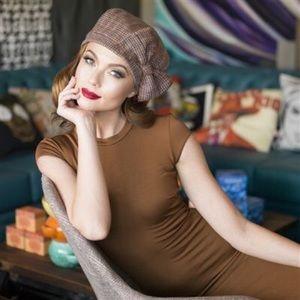 Wool tweed beret now