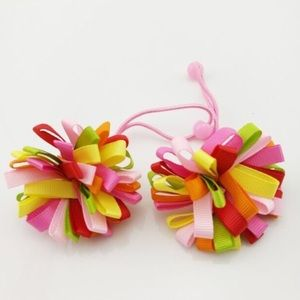 T&J Designs Other - Pink Pom Pom Hair Ties