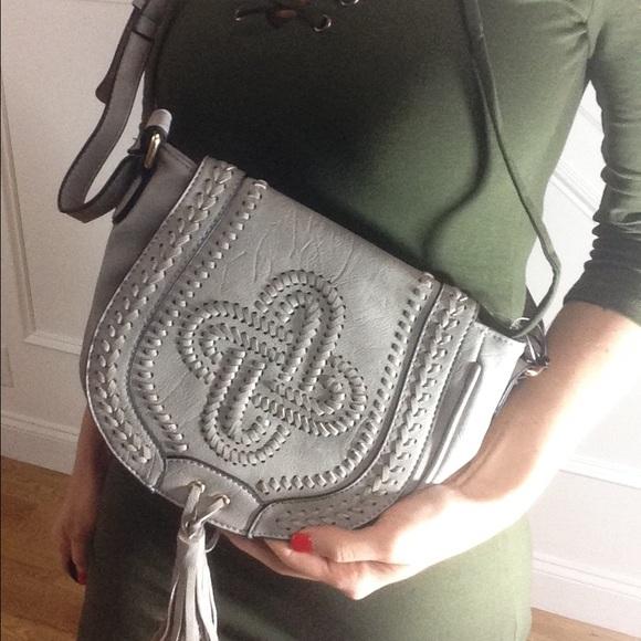 Handbags - LAST Grey Cross Body Bag