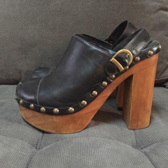 Jeffrey C&bell Charli-C Woodies Leather Clogs & Jeffrey Campbell Shoes | Charlic Woodies Leather Clogs | Poshmark