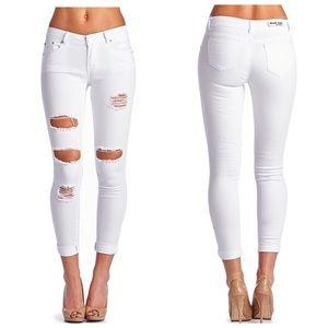 Denim - ✨Restocked!!! ✨Butt Lifting White Ripped Jeans