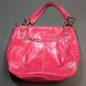 Raspberry Pink Oversized Purse Tote Shoulder Bag