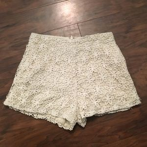 Flower cut out shorts