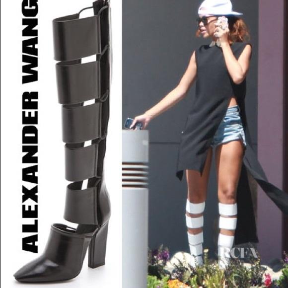 6e1377d63cac37 NIB Alexander Wang Marta Boots Black 37 Rihanna