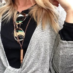 Long Bullet Crystal Necklaces