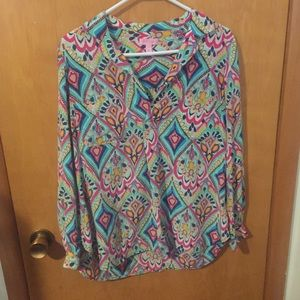 Lilly Pulitzer silk blouse top