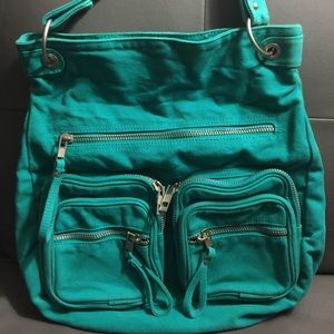 Old Navy turquoise canvas hobo