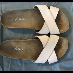 White Boden Sandals