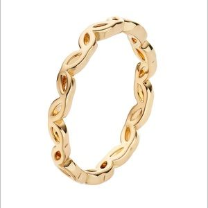 💍Infinity cat eyes mask statement gold ring j01a
