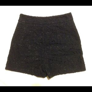 Express Black Crochet Lace Shorts