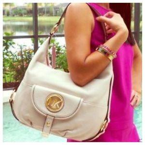 Michael Kors Large Fulton Leather Shoulder Bag
